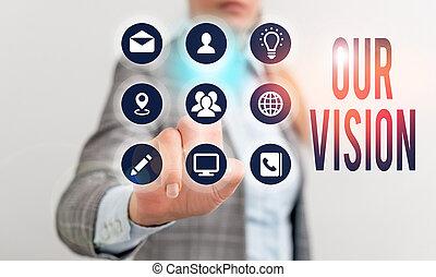 showcasing, επιχείρηση , vision., φωτογραφία , εκδήλωση , γράψιμο , βατεύω , καθαρά , αποφασίζω , actions., σημείωση , τρέχων , οδηγόs , δικός μας , μέλλον