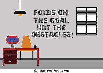 showcasing, být, obstacles., dokončit, branka, business dvorek, room., fotografie, cíl, ohnisko, dílo, nota, ne, jádro, počítač, minimalist, vnitřní, studovna, odhodlaný, showing