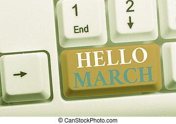 showcasing, composición, teclado, pc, nota, march., fondo.,...