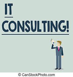 showcasing, organisations, haut, foyers, business, conversation, photo, projection, chaud, il, écriture, regarder, leur, megaphone., analysisage, conseiller, tenue, conceptuel, homme affaires, main, consulting.