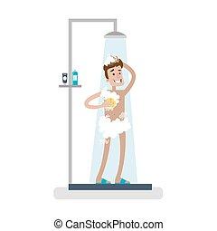 shower., πλύση , άντραs
