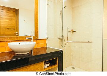 Shower box decoration interior of bathroom - Vintage Light ...
