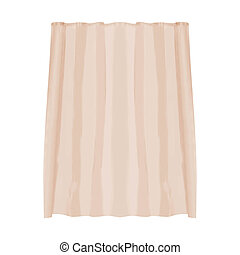 shower curtain isolated