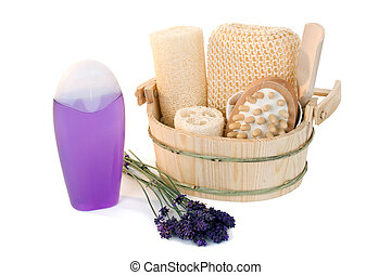Shower gel with lavender