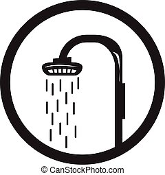 shower head clipart black and white. shower head icon - with water and within aclipart black white h