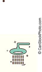 Shower icon design vector