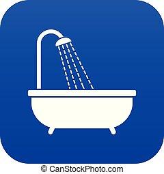 Shower icon digital blue