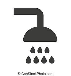 Shower icon on white background.