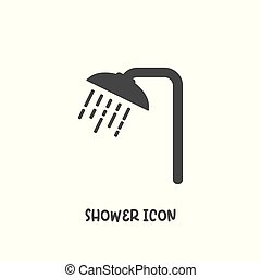 Shower icon simple flat style vector illustration.