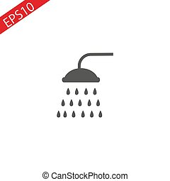 Shower icon Vector. Flat vector illustration in black on white background.
