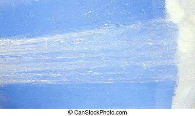 shower jet with foam