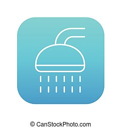 Shower line icon.
