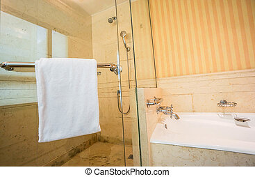 shower room with bathtub in bathroom