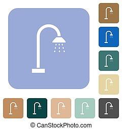 Shower rounded square flat icons