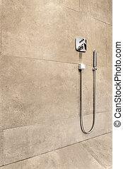 Shower set on sand glaze