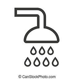 Shower vector flat icon on white background.