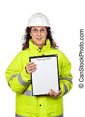 Showing a blank sheet