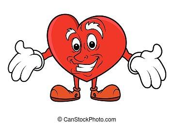 Showing Empty Hands - Cartoon Heart