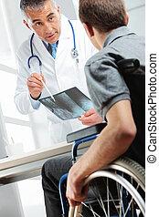 showing, pacient, rentgen, falšovat