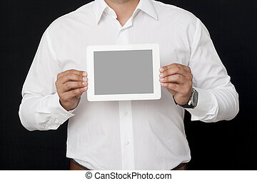 showing screen of a digital tablet