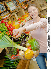 showing the basket of vegetables