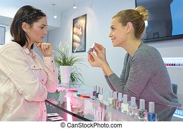 showing the nail polish