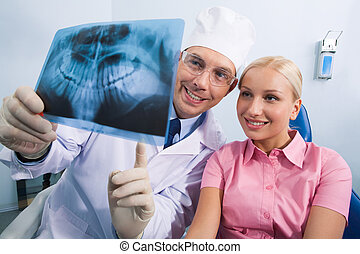 Showing x-ray photography