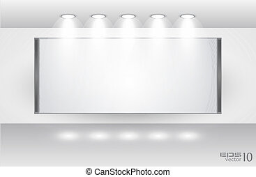 Showroom for product with LED spotlights