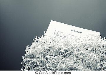 Shredded agreement