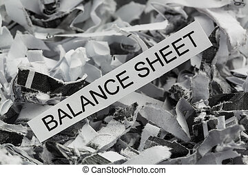 shredded balance sheet - paper shred with the keyword...