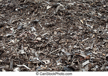 Shredded car parts - Plastic pieces from separation process ...