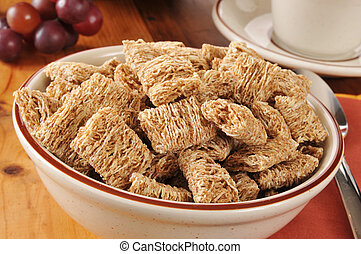Shredded organic wheat cereal