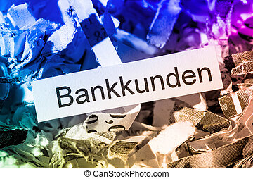 shredded paper bank customers