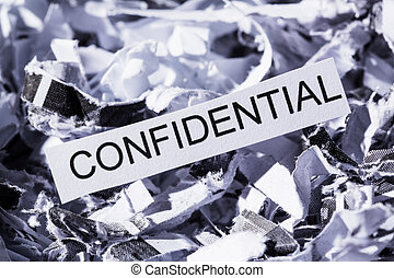 shredded paper confidential - shredded paper tagged...