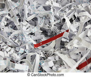 Shredded Paper close-up