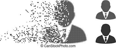 Shredded Pixel Halftone Boss Icon