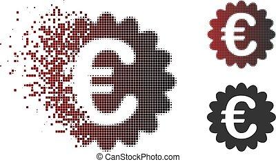 Shredded Pixel Halftone Euro Award Seal Icon