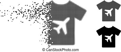 Shredded Pixelated Halftone Man T-Shirt Icon - Man T-shirt ...