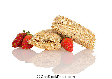 shredded wheat with strawberries