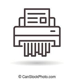 shredder paper flat icon