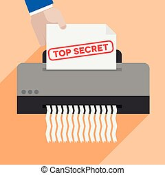 shredding top secret letter