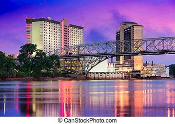 Shreveport, Louisiana Skyline - Shreveport, Louisiana, USA...