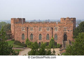 shrewsbury castle - The red sandstone walls of Shrewsbury...