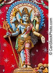 Shri Ardhanarishwara (literally Half-Woman God), traditional...