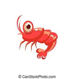 shrimp., ベクトル, イラスト