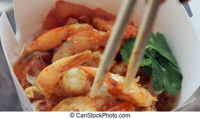 shrimp and Asian food