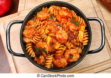 Shrimp and Fusilli Pasta