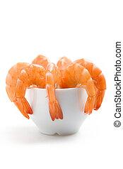 Shrimp appetizer - Closeup shot of shrimps in an appetizer ...
