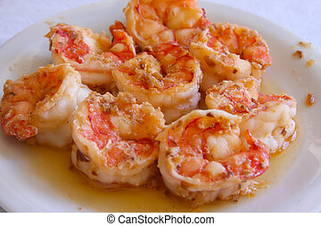 Shrimp appetizer - Shrimp prawn appetizer cooked seasoned...