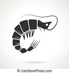 Shrimp black vector icon